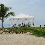 Beach spa area