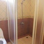 Separate enclosed shower area
