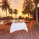 Sunset at Ocean View Restaurant