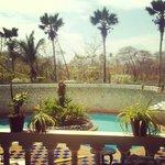 piscina desde el balcon