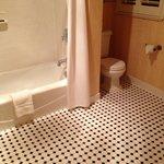 Spacious clean bathroom