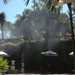 Smoke over the wall at Kuta Paradiso Hotel