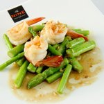 Fired prawn with asparagus