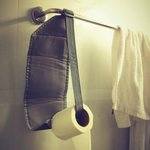 made our own toilet-roll holder