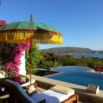 The room's semi-private pool overlooking the lake Pichola