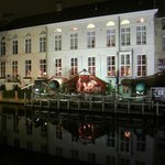 Hotel at night from the canal side