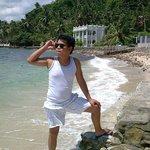 Small white sand part of Palangan Bay