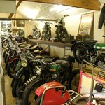 Main hall at the London Motorcycle Museum