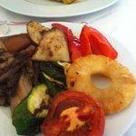 verdura e frutta alla griglia