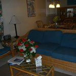 Inside the room (note the flowers are from my husband not the resort - we were Valentine's Day)