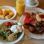 バイキングの朝食例