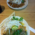 My Pad Thai, and My Daughter's Japanese Pan Noodles
