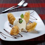 Deep Fried Banana Fritters & Vanilla Ice cream