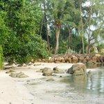 petite plage pour bronzer
