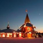 The Christmas House, Santa Claus Village at sunset.