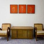 Il ricevimento, dipinti di Gabriele Mattera