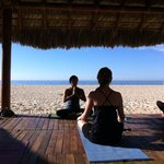 Yoga on the beach in Los Cabos with Ivonne