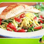 Ensalada de Fruta with Salmon