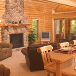 Log Home 17 Fire Place