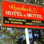 Sign at the Rancheria Motel