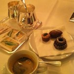 Espresso and after dinner complimentary chocolates