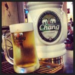 """Thai beer i saw on Everton shirt!! call """"Chang beer"""""""