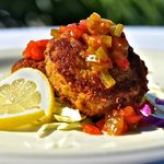 Camachee Island Crab Cakes with Datil Jelly