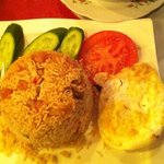 Nasi Goreng that tastes like a cheap fried rice for 22aed.