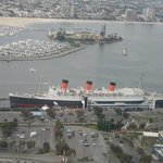 The Queen Mary from our Helicopter Tour