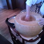 mixing the pasta in the big cheese :D