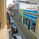 View down Fortaleza Street from our second floor room