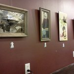 Great rotating local art (for sale)!