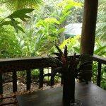 Rainstorm from the door of our Casita