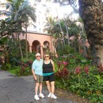 Us in the entry garden