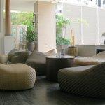 Cool, quiet lobby
