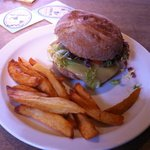 The Woolpack Inn's Epic Lamb Burger & Chips