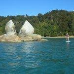 Split Apple Rock from Little Kaiteriteri Beach
