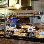 Thin crust pizza slices: YUMMY