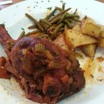 Lamb shank with roasted potatoes and green beans  MMMMMM