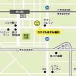 JR東海道新幹線、JR東海道本線「掛川駅」より徒歩2分、東名高速道路「掛川I.C.」より車で2分!無料駐車場25台!
