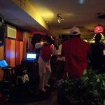 This is in the bar Friday nights. The famous Bahamian singer Jay Michael's is performing