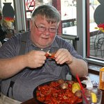 Just got served with a huge plate of delicious crawfish. I chose medium spice..fantastic.