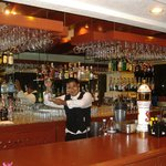 Lobby Bar, great tender