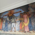 There's over 150 murals that line the corridors.  All outside.