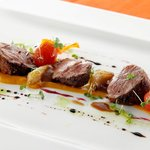 Grilled loin of lamb