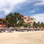 Playa el Palmar, donde se ubica el Hotel Presidente Intercontinental.