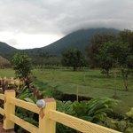 ubicacion del hotel con respecto al volcan