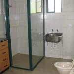 Studio apartment bathroom