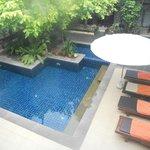 Vista piscina grande