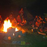 Campfire, company and food